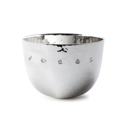 Sterling Silver Large Hammered Tumble Cup - Hamilton & Inches