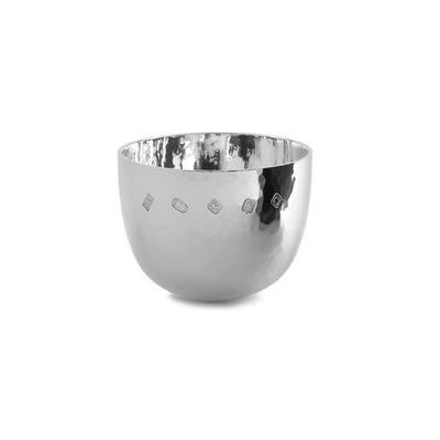 Sterling Silver Medium Hammered Finish Tumble Cup-Hamilton & Inches