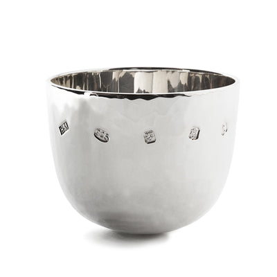 Small Sterling Silver Hammered Tumble Cup - Hamilton & Inches