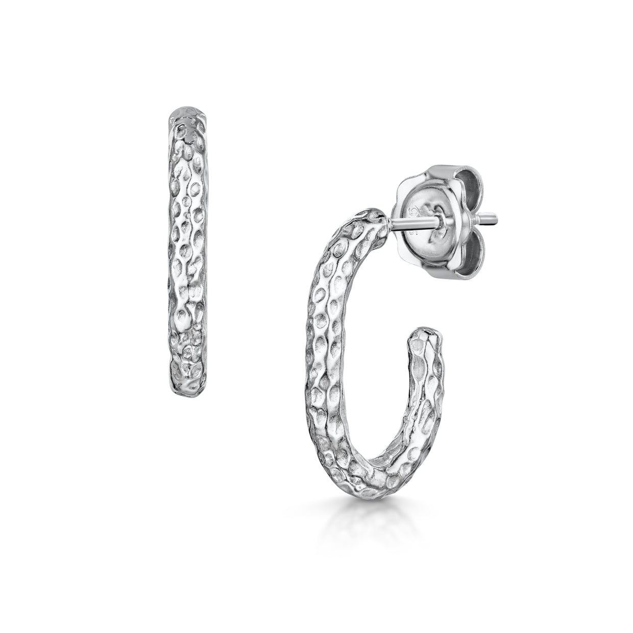 Luna Hoop Earrings In Sterling Silver-H & I-Hamilton & Inches
