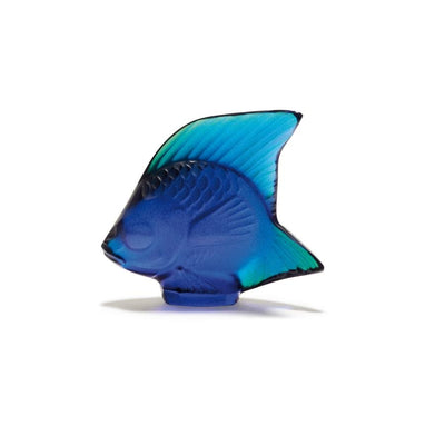 Lalique Aquatic Poisson - Cap Fer Blue Luster - Hamilton & Inches