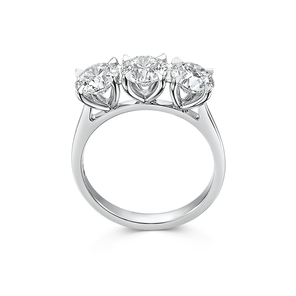 The Engagement Collection: Brilliant-Cut 2.40ct Three Stone Diamond Ring in Platinum