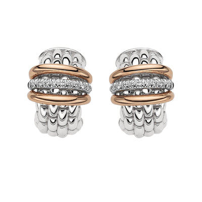 FOPE Panorama Flex'it Earrings in 18ct White Gold-FOPE-Hamilton & Inches