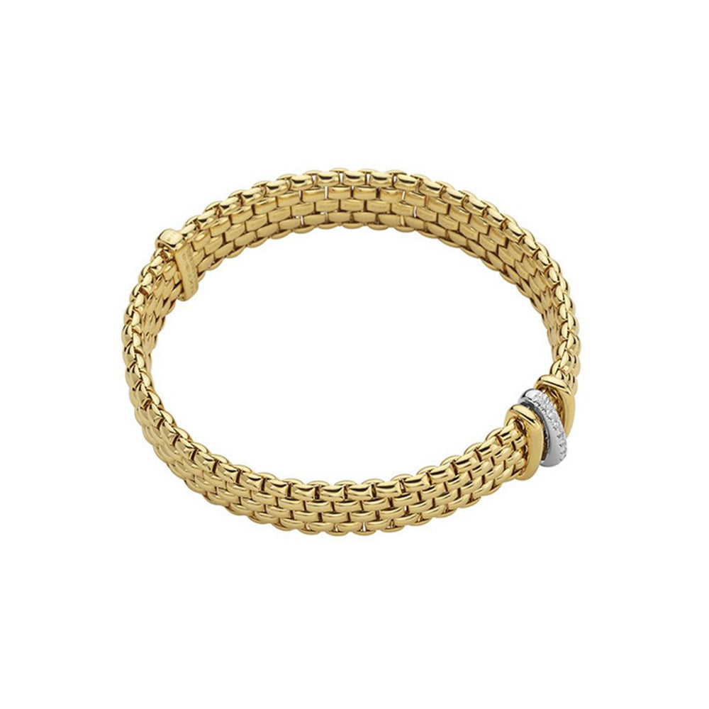 FOPE Panorama Flex'It Bracelet in 18ct Yellow Gold (Medium)-FOPE-Hamilton & Inches