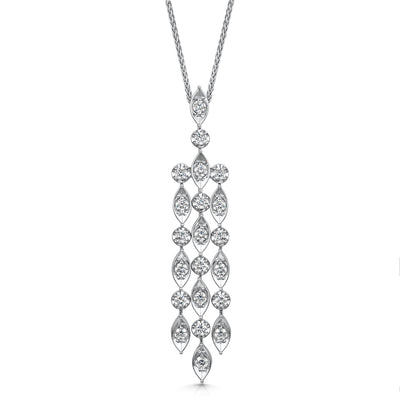 Diamond Chandelier Pendant in 18ct White Gold-Hamilton & Inches