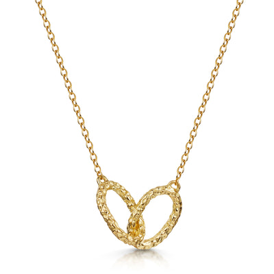 Luna Double Oval Link Pendant In 18ct Yellow Gold-Hamilton & Inches
