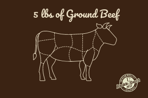 5 lbs of Ground Beef