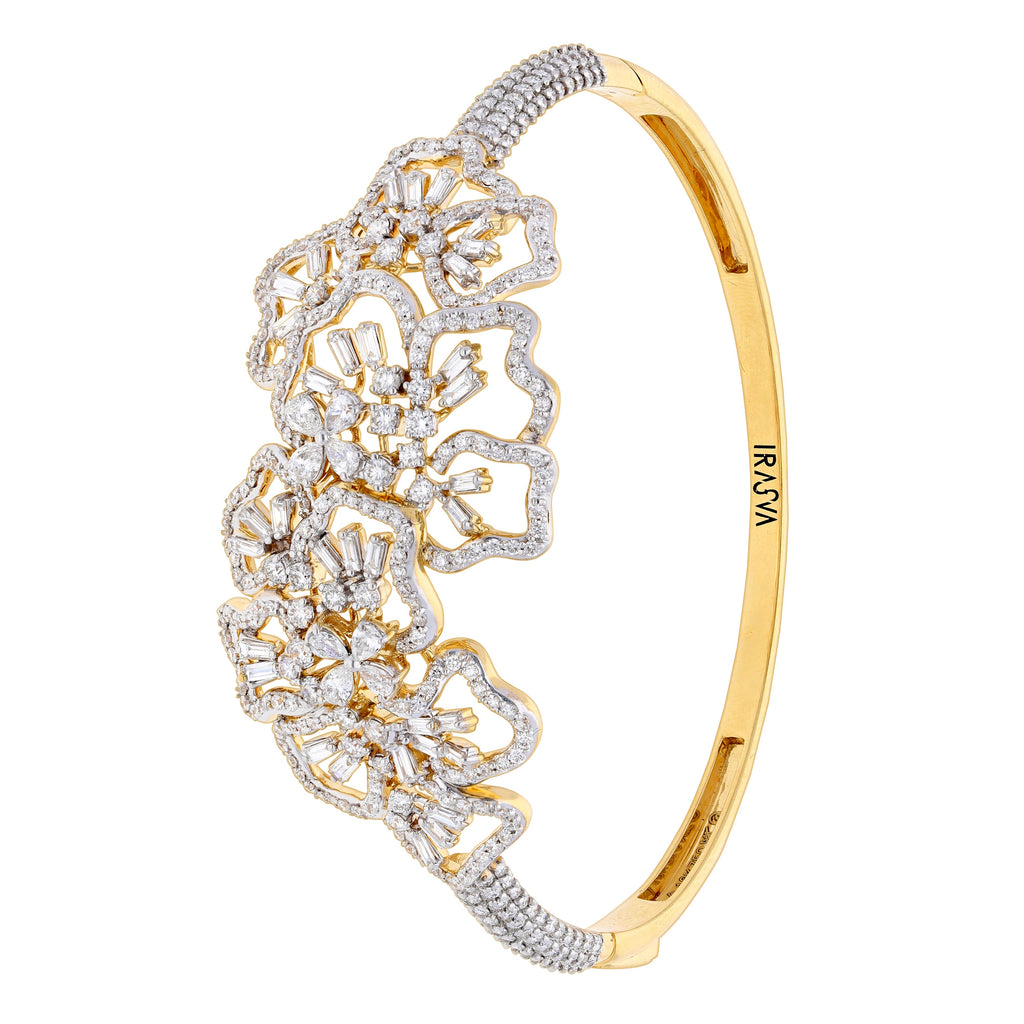 Scatter Waltz Floral Explosion Diamond Bangle