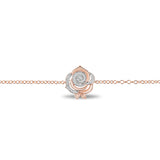 Belle Rose Bracelet with 1/8 CTTW Diamonds