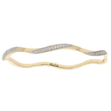 Surfwave Diamond Bangle