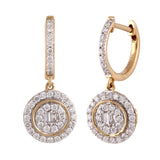 Aura Dangle Diamond Earrings