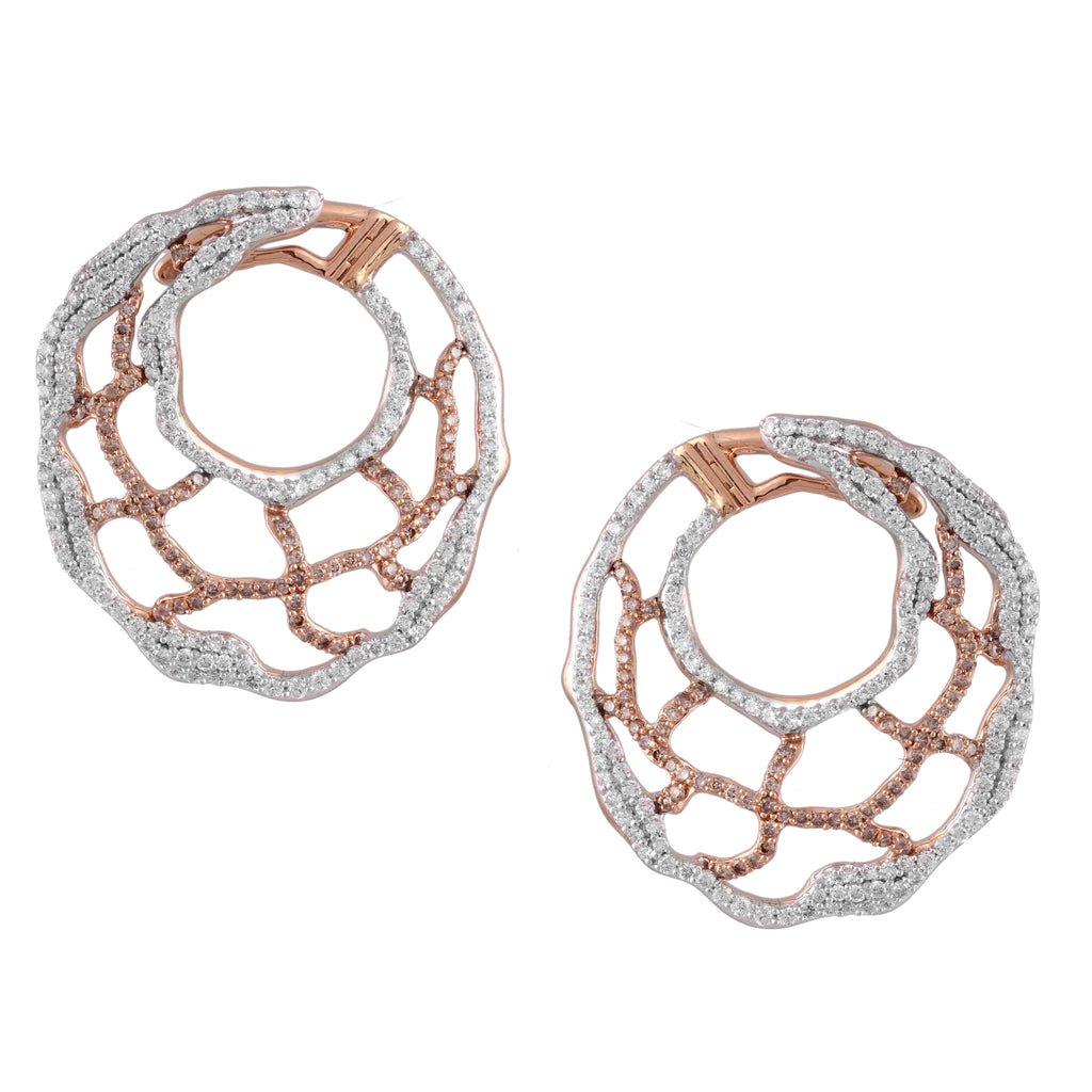 Elements Spiral Diamond Earrings