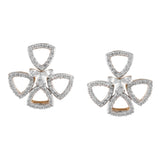 Elements Pinwheel Diamond Earrings