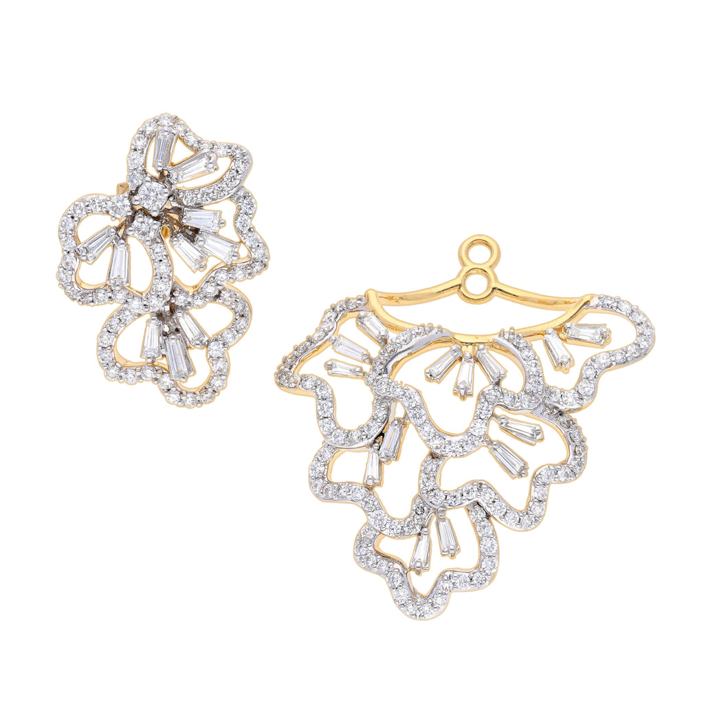 Scatter Waltz Disorder Diamond Earrings