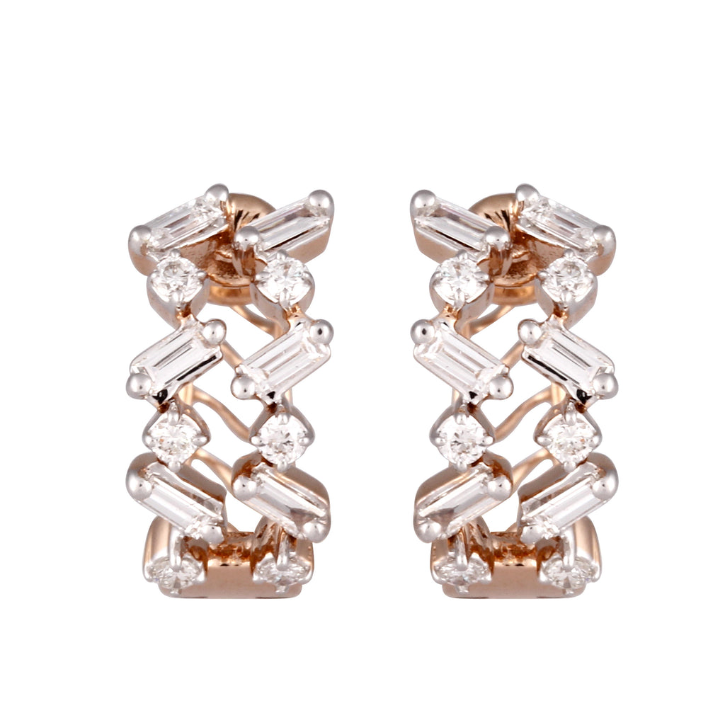 Circled Fireworks Diamond Earrings