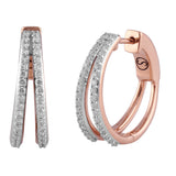 Circled Diamond Ring-A-Ring Diamond Earrings