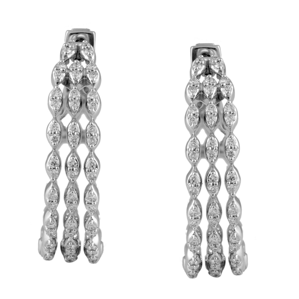 Circled Lights Diamond Earrings