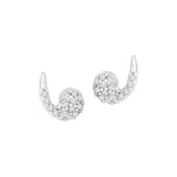 Virgule Diamond Earrings