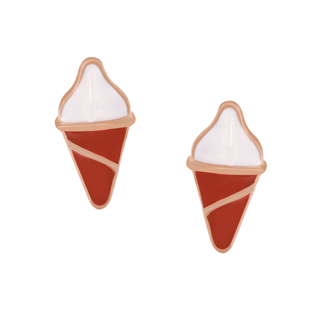 Cone Enamel Earrings