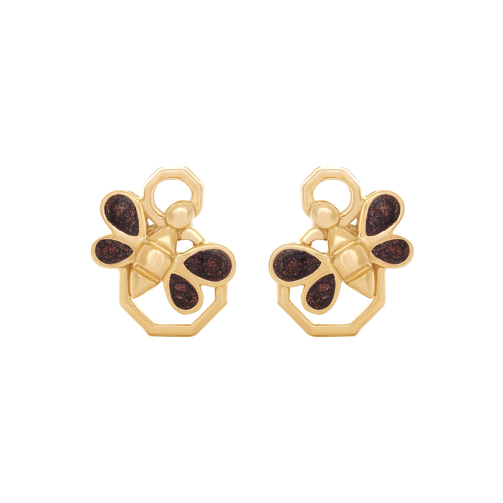 Queen Bee Enamel Earrings