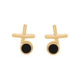 Noir Enamel Earrings