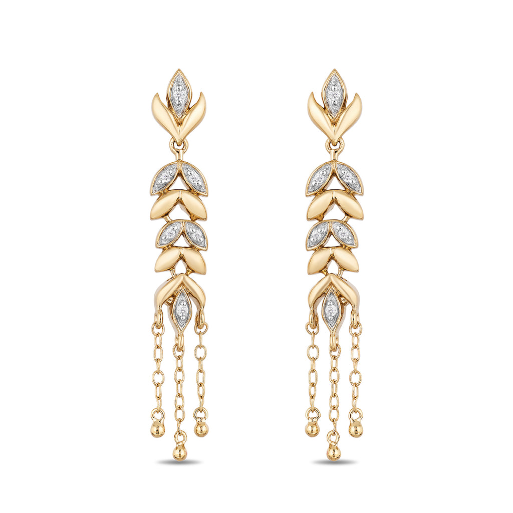 Anna Chandalier Earrings With Diamonds