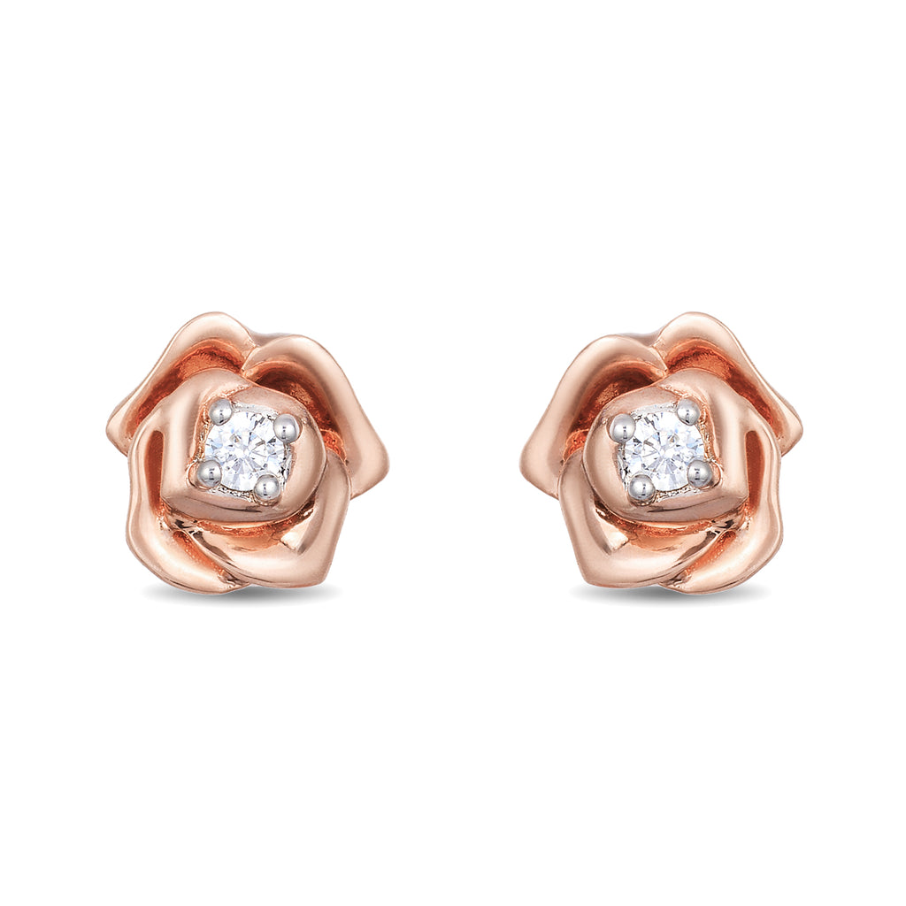 Belle Rose Studd Earrings with 1/20 cttw Diamonds