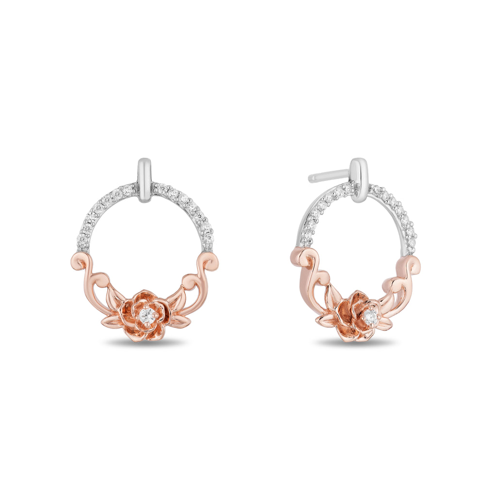 Belle Circle Earrings with 0.14 CTTW Diamonds