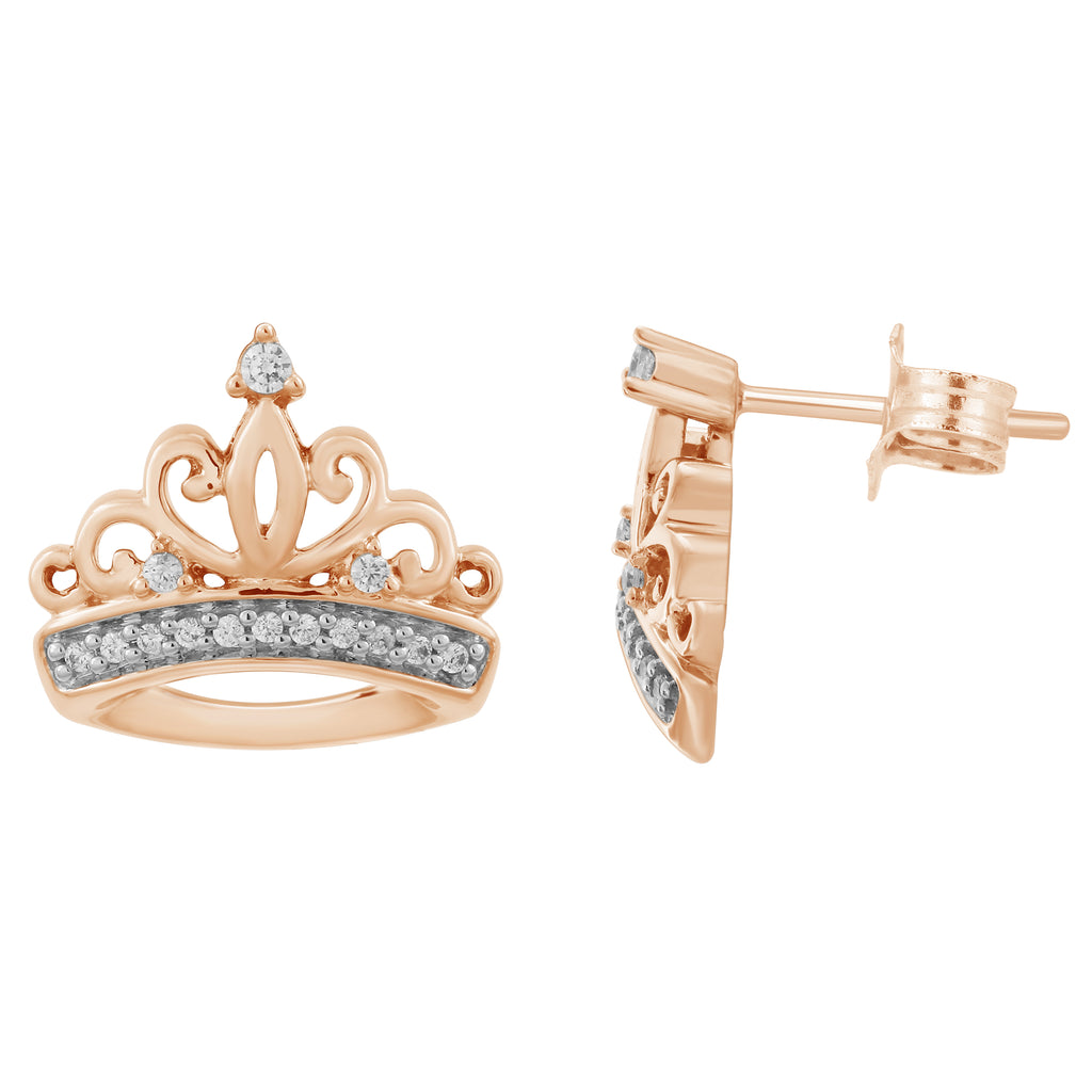 Majestic Princess Earrings with 1/10 cttw Diamonds