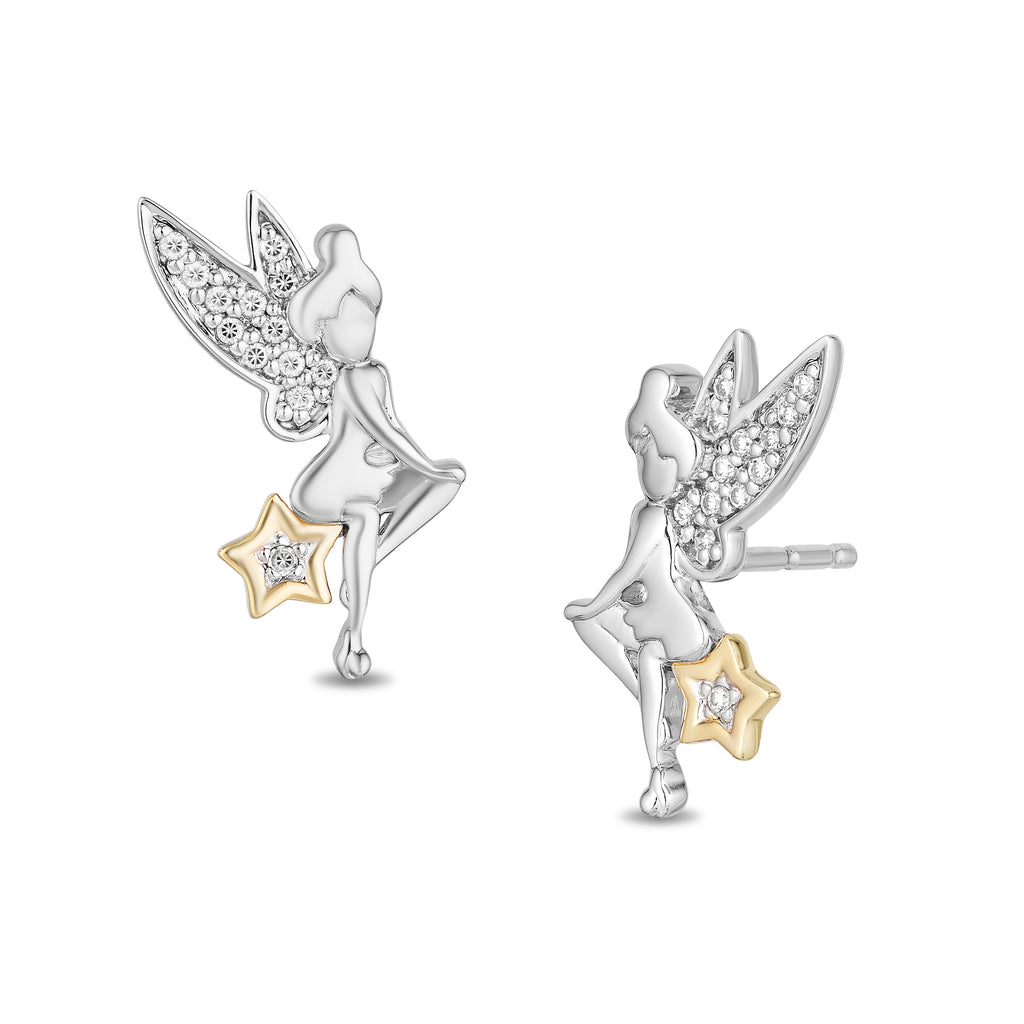 Tinker Bell Earrings with 1/10 cttw Diamonds