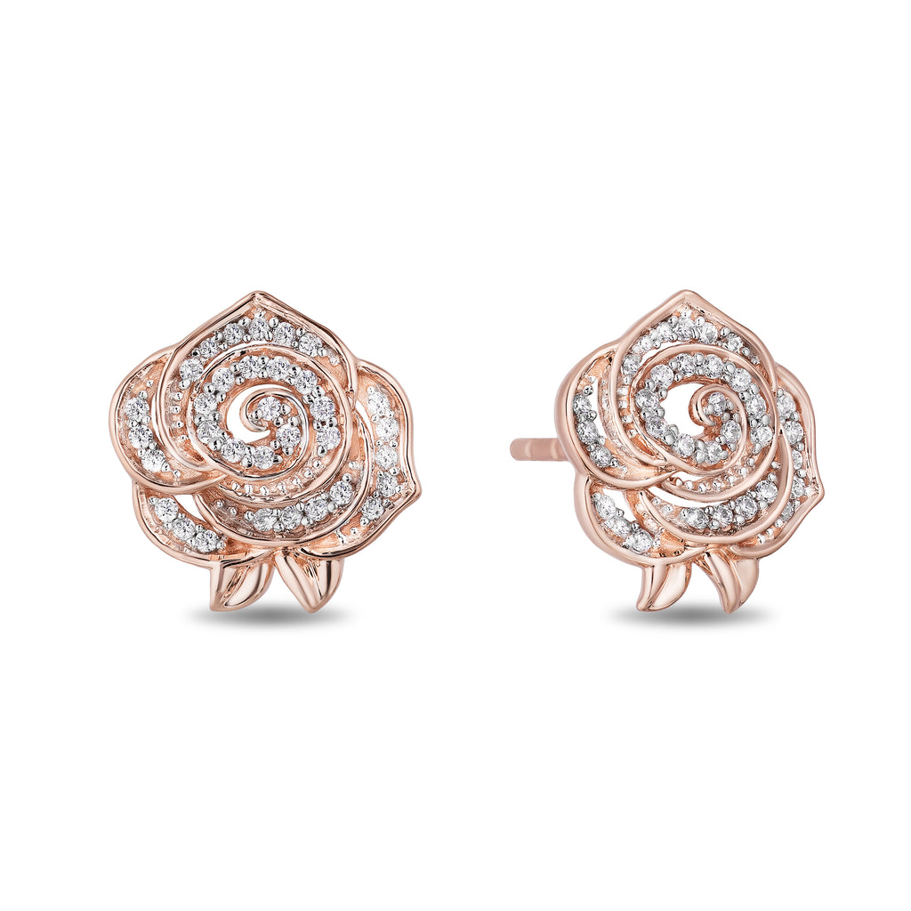 Belle Rose Earrings with 1/5 cttw Diamonds