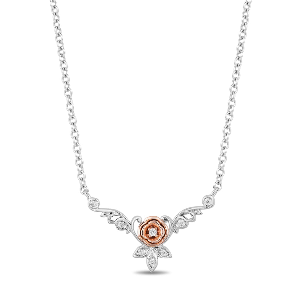 Belle Necklace with Diamond Accents