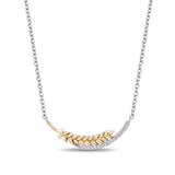 Anna Wheat Necklace with 1/10 cttw diamond