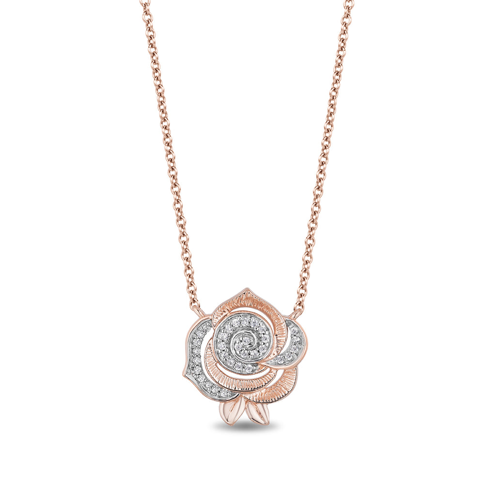 Belle Rose Necklace with 1/4 CTTW Diamonds