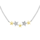 Tinker Bell Star Necklace with 1/20 cttw Diamonds