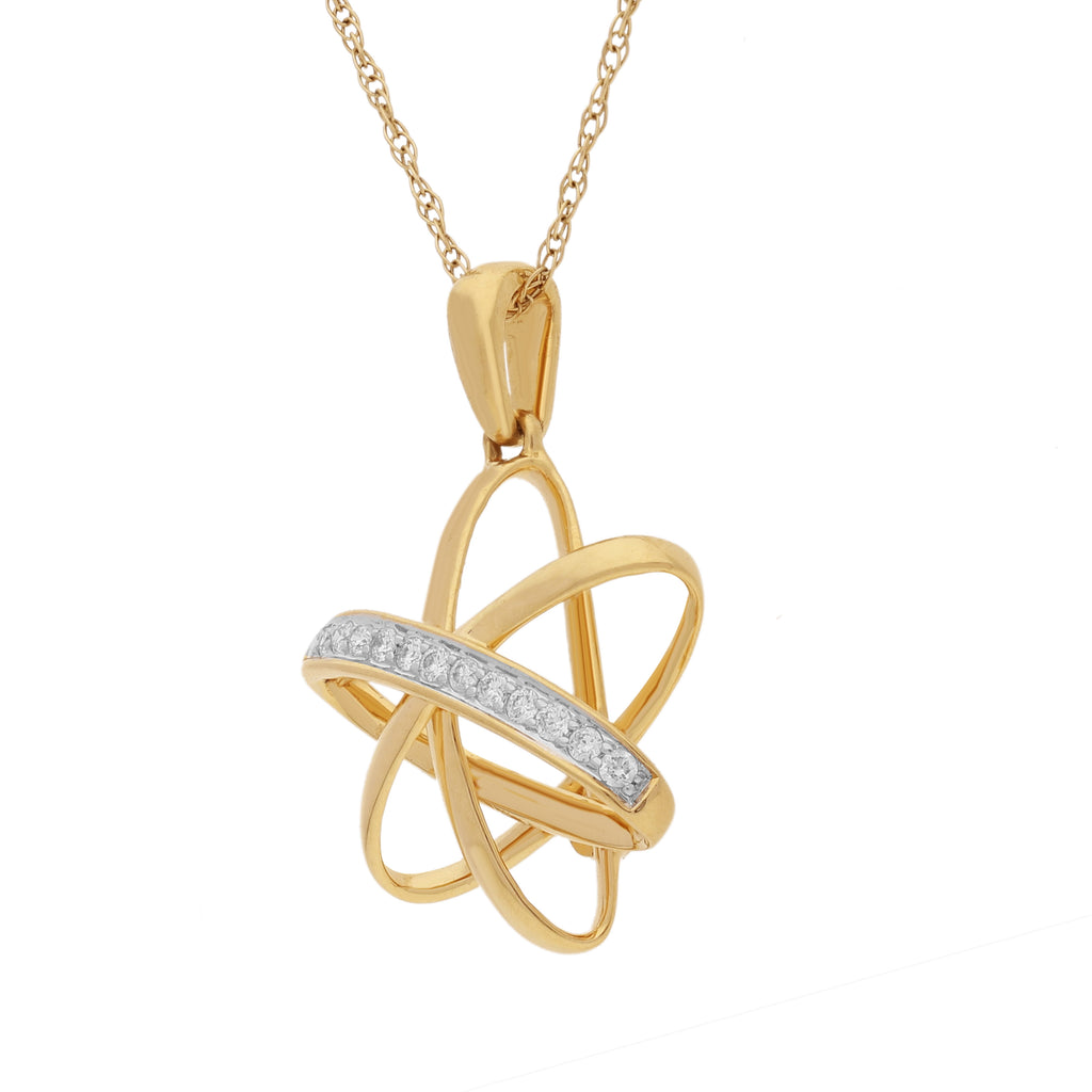 Starring You Revolve Diamond Pendant