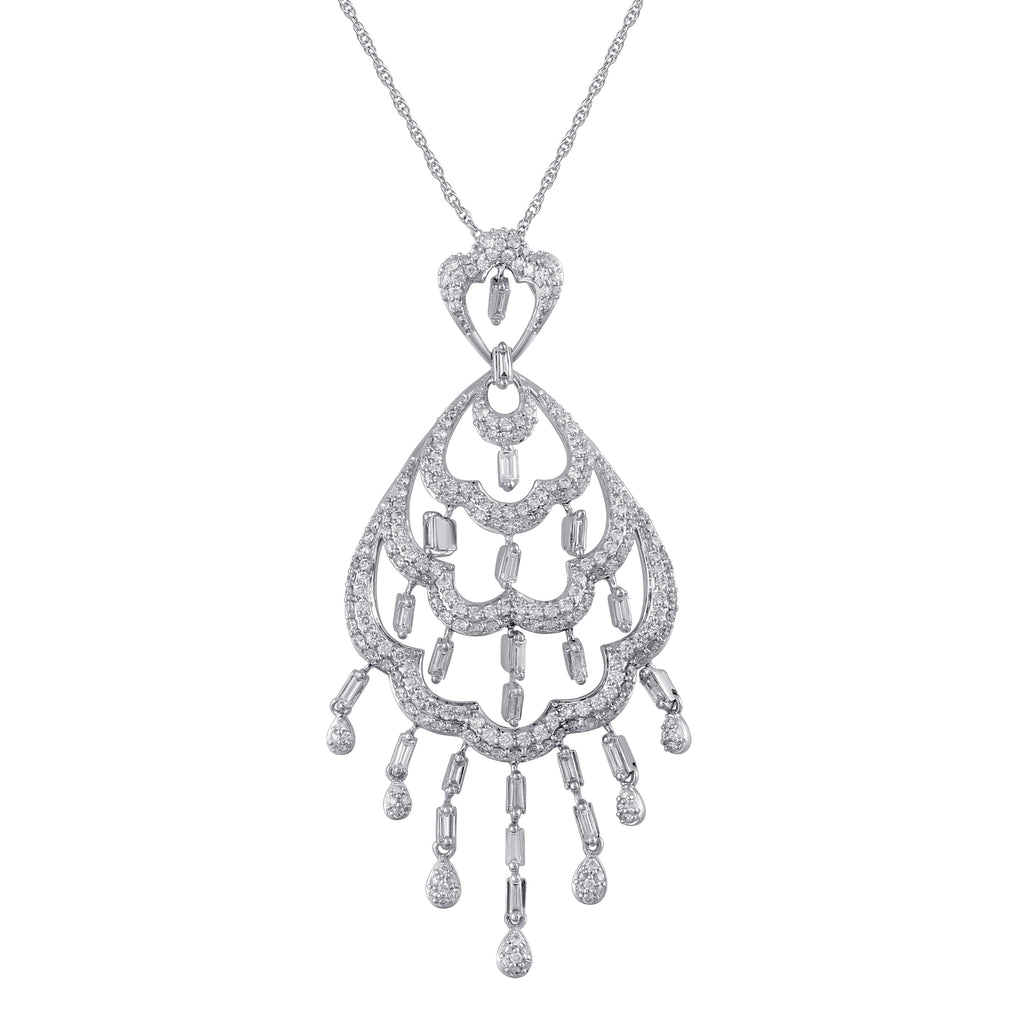 Freeflowing Waterfall Diamond Pendant