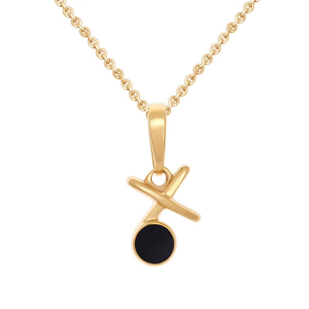 Tic-Tac-Toe Diamond Pendant