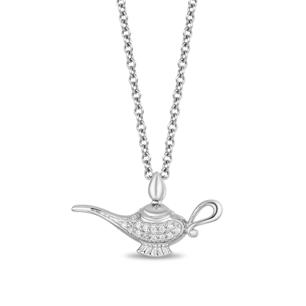 Jasmine Genie Lamp with 1/10 cttw Diamonds