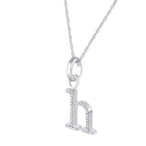 H Diamond Pendant