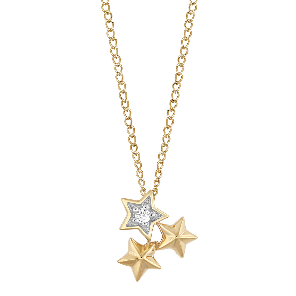 Tinker Bell Star Pendant with Diamonds