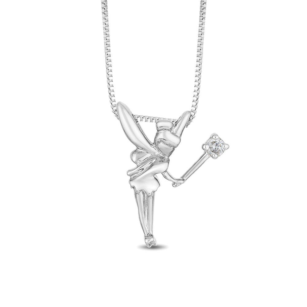 Tinker Bell Wand Pendant with Diamonds