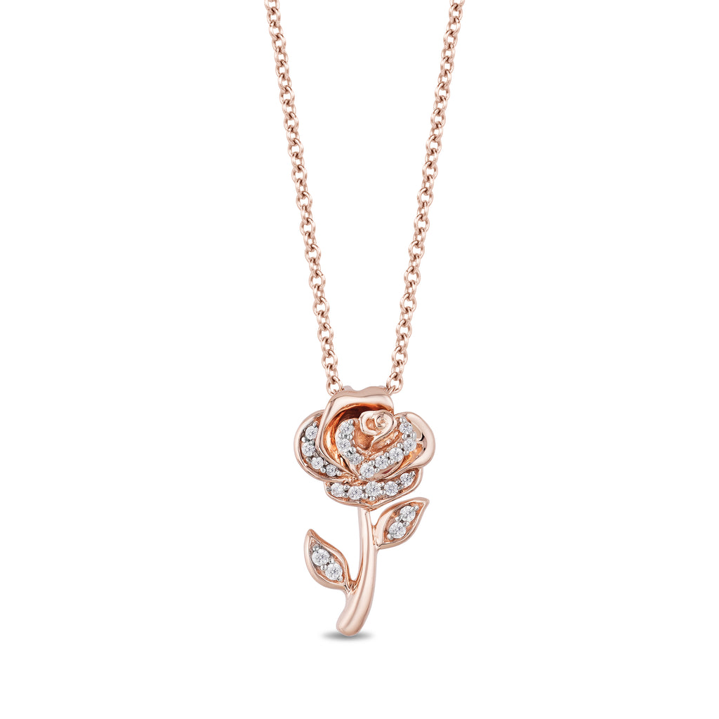 Belle Rose Pendant with 1/10 cttw Diamonds