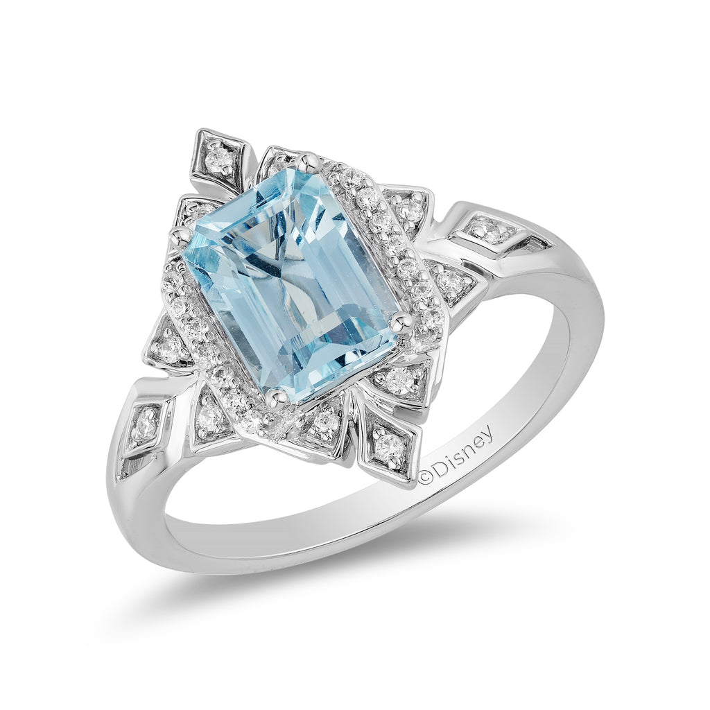 Elsa Ring with 1/10 cttw Diamonds and Sky Blue Topaz