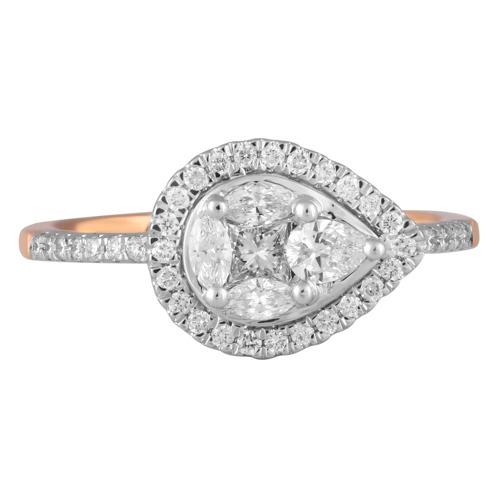 Iced Pear Diamond Ring