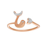 Dolphin Diamond Ring