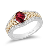 Anna Gemstone Ring with 1/5 cttw Diamonds and Rhodolite Garnet