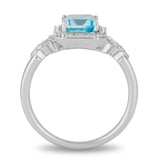 Elsa Ring with 1/6 cttw Diamonds and Sky Blue Topaz