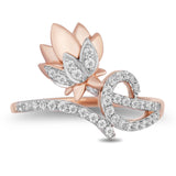 Jasmine Lotus Ring With 0.30 Cttw Diamonds