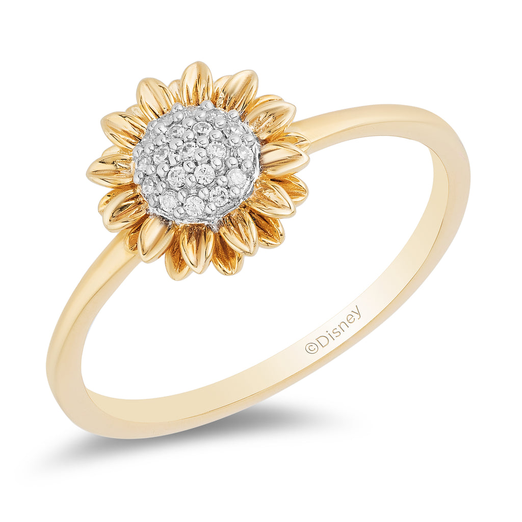 Pocahontas Sunflower Ring with 1/20 CTTW Diamonds